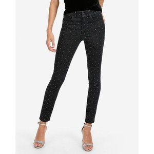 Express Rhinestone Studded Ankle Jean Legging 00